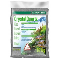 Dennerle Kristal Kwartsgrind 10 kg, leisteengrijs Aquariumgrind/zand