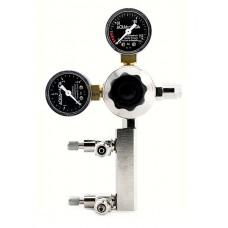 Aqua-Noa CO2 drukregelaar Profi M2 met 2 fijnregelventielen voor hervulbare flessen CO2 Drukregelaars