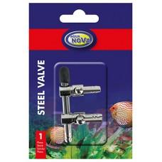Aqua Nova metalen luchtkraan 2-weg 4/6 mm Luchtpomp accessoires