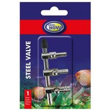Aqua Nova metalen luchtkraan 3-weg 4/6 mm Luchtpomp accessoires