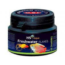 HS Aqua / O.S.I. Freshwater flakes 100 ml/18 g, vlokkenvoer Vlokken