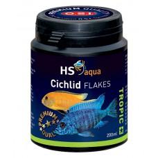 HS Aqua / O.S.I. Cichlid flakes 200 ml/35 g, cichliden vlokkenvoer Vlokken
