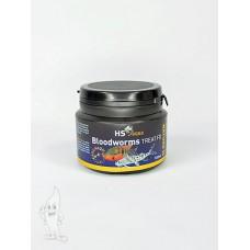HS Aqua / O.S.I. bloodworms 100 ml/8 gram, gedroogde rode muggenlarven Gevriesdroogd