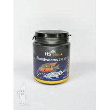 HS Aqua / O.S.I. bloodworms 200 ml/16 gram, gedroogde rode muggenlarven Gevriesdroogd