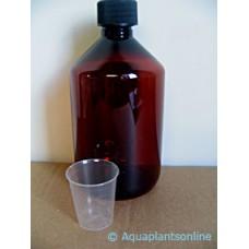 APO donkere fles 500 ml + maatbekertje voor stockoplossingen Plantenvoeding